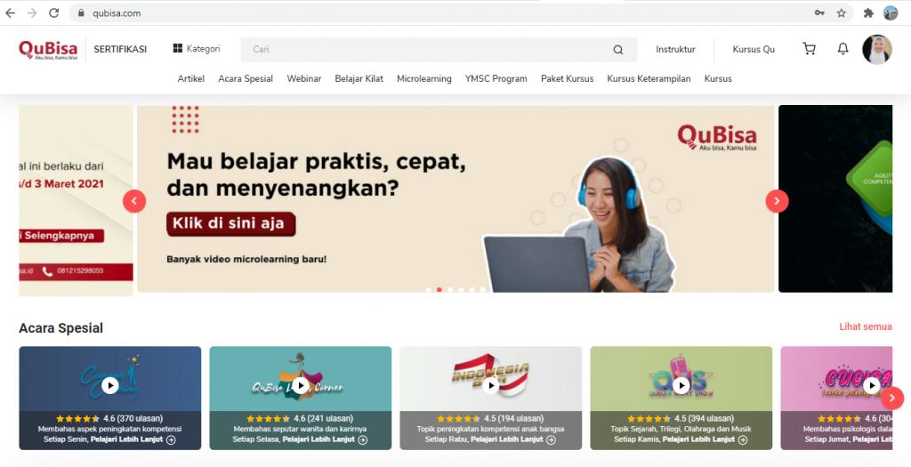 platform belajar online Indonesia qubisa untuk belajar manajemen stress